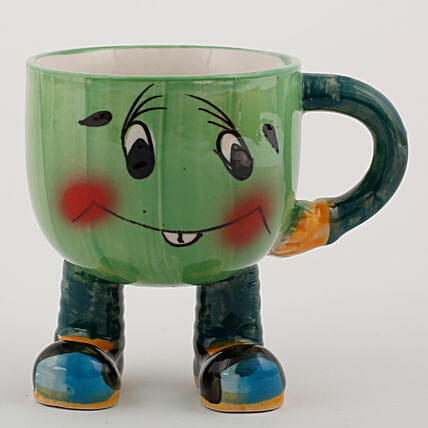 printed smiley mug shape vase:Planter Pots online