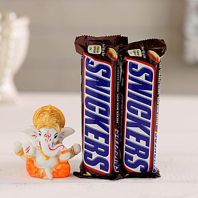 Chocolate & Ganesha Idol Combo:Buy Best Diwali Gift For Girlfriend