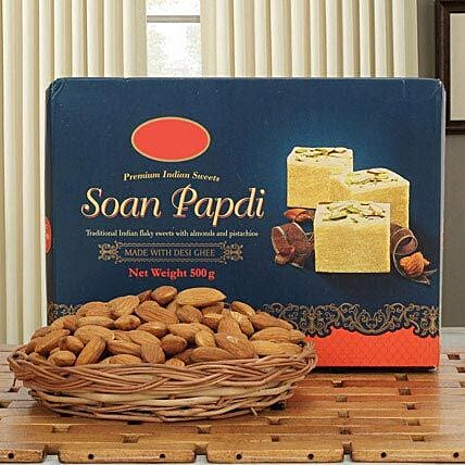 Soan papdi with dry fruits:Sargi For Karwa Chauth
