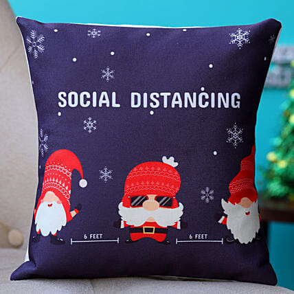 Social Distancing Christmas Cushion Hand Delivery:Secret Santa Gift Ideas