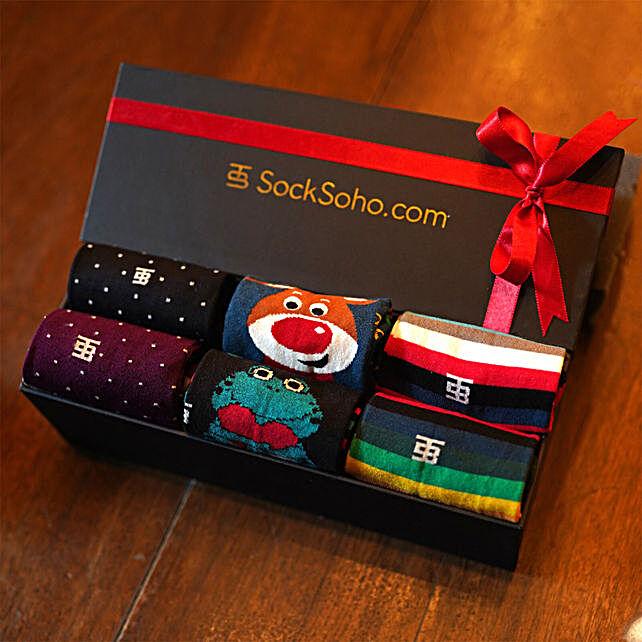 SockSoho Socks Happy Gift Box:Apparel Gifts