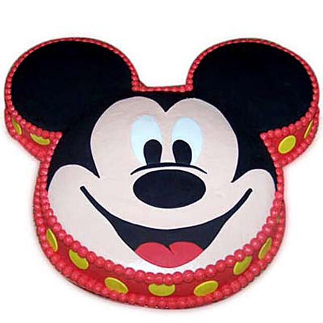 Soft Mickey Face Cake 3kg Vanilla Eggless