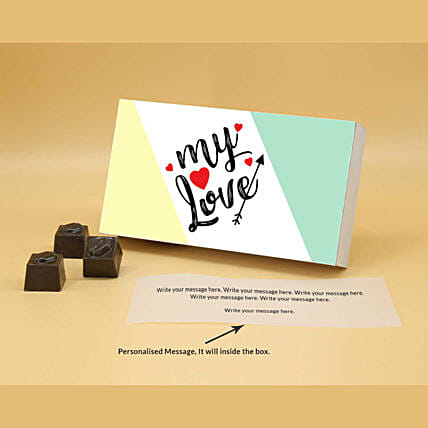 Online Soothing Love Personalised Chocolates