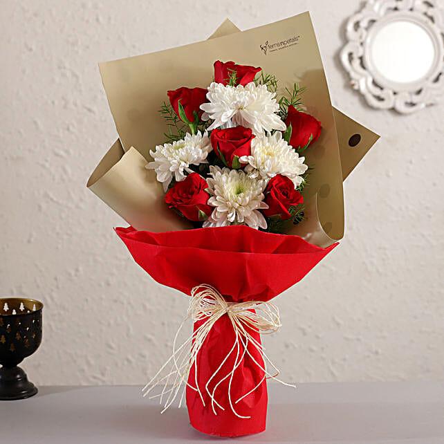 Sparkling Roses Chrysanthemums Bouquet