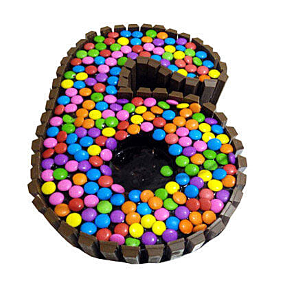 No 6 Gems Kitkat Cake for Kids 2kg