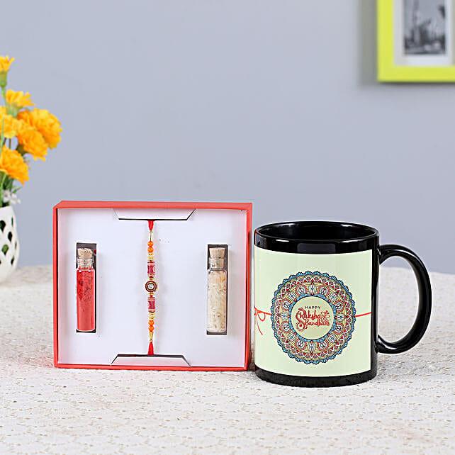 online rakhi with printed mug