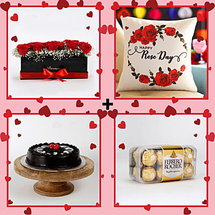 lovely rose day combo surprise online