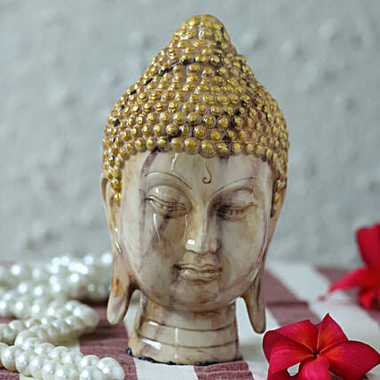 marble finish buddha idol
