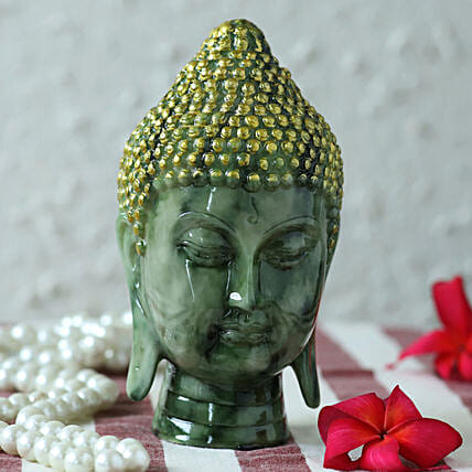premium marble finish buddha idol