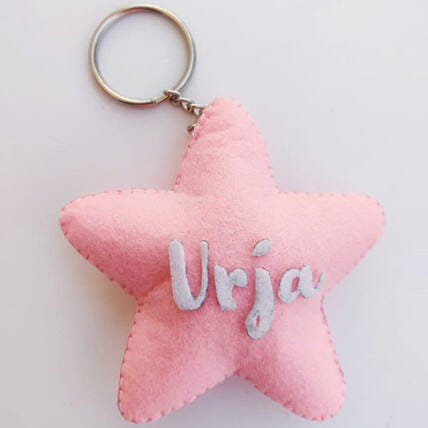 Star Shaped Personalised Keychain
