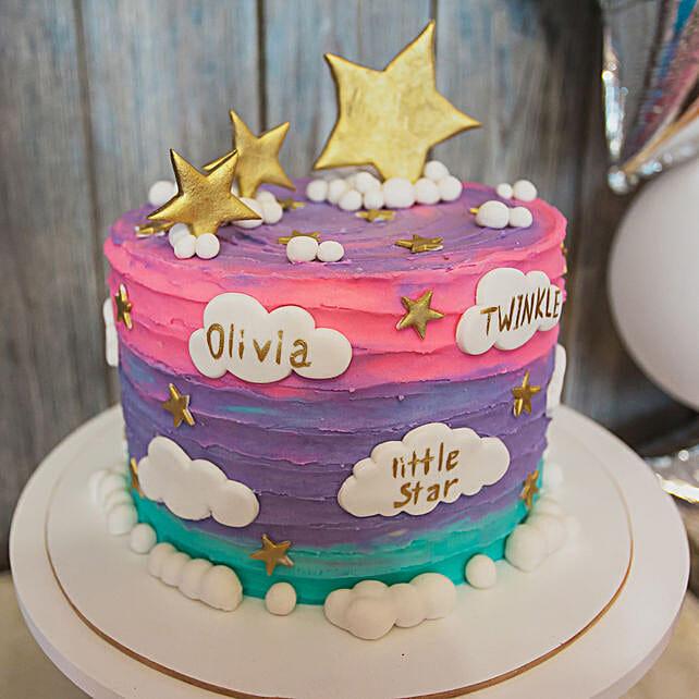Starry Choco Delight Cake