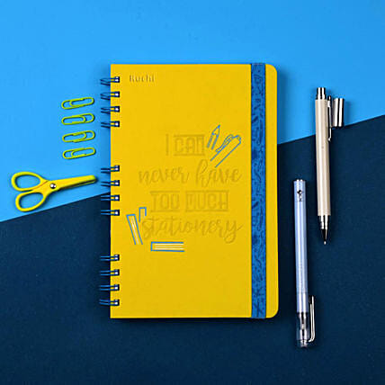 Personalised Yellow Notebook Online