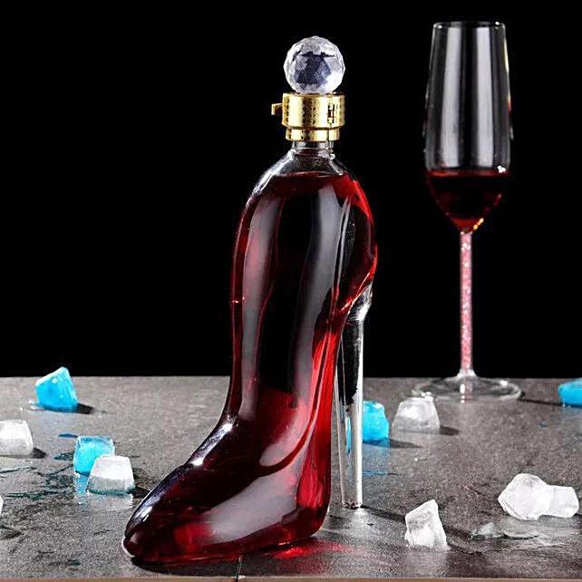 Stiletto Wine Decanter With An Airtight Diamond Stopper