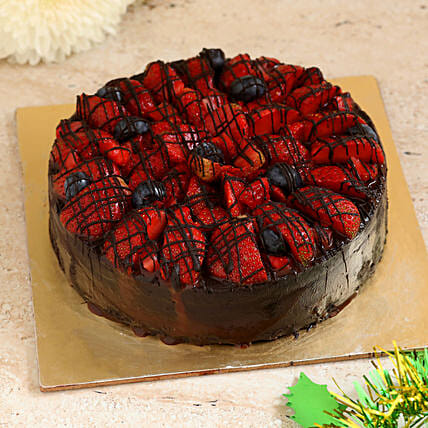 Strawberry Dark Choco Fit Cake