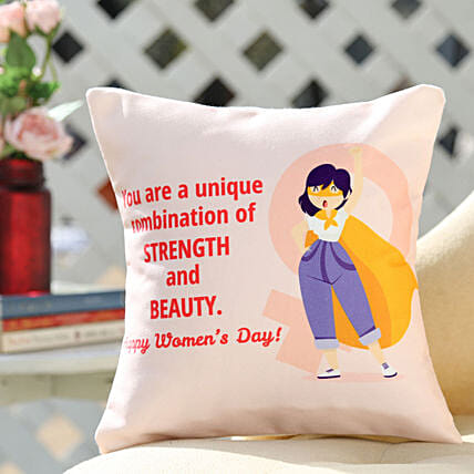 Online Women's Day Cushion:Womens Day Gifts for Sister