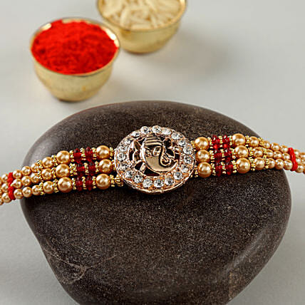 Studded American Diamond Rakhi