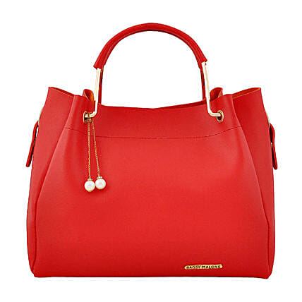 Stylish Bagsy Malone Red Hand Bag:Buy Purse