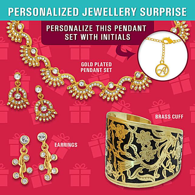 stylish pendant set online:Personalised Jewellery
