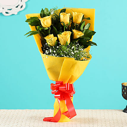 Yellow Roses Bunch Order Online