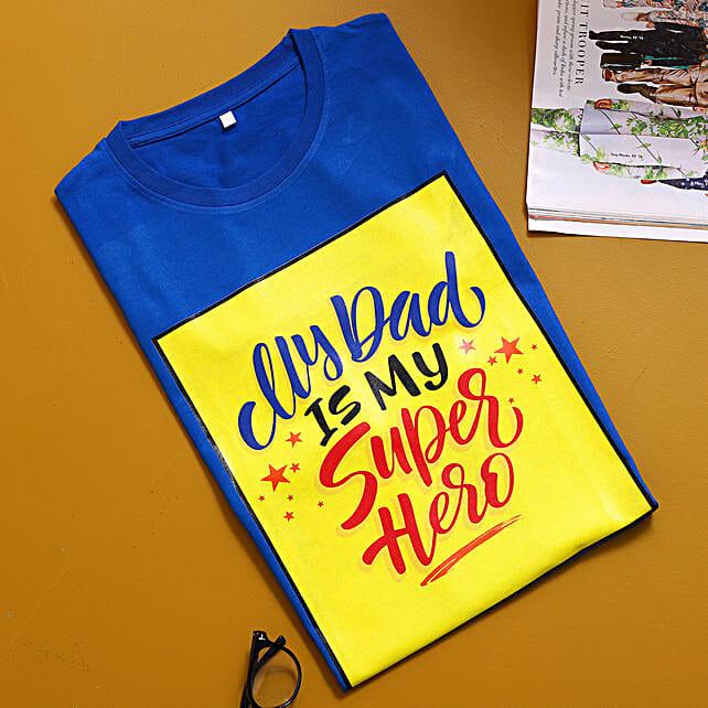 Superhero Dad Blue TShirt:Apparel Gifts