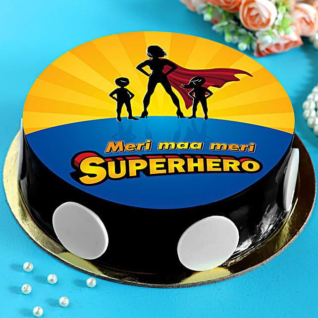 Superhero Maa Chocolate Cake