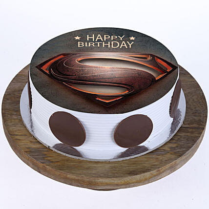 Online Superman Logo Cake For Kids:Superhero Cakes