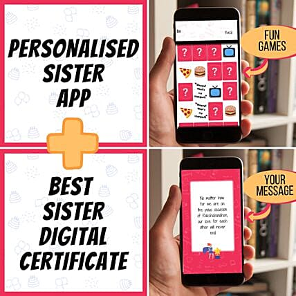 Surprise Rakhi Personalised Game App For Sister