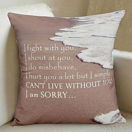 Sorry Printed Cushion:Send Home Decor Gifts