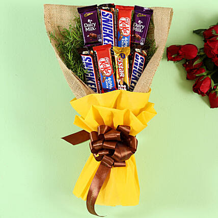 Sweet Chocolates Bouquet:Gift Ideas for Diwali