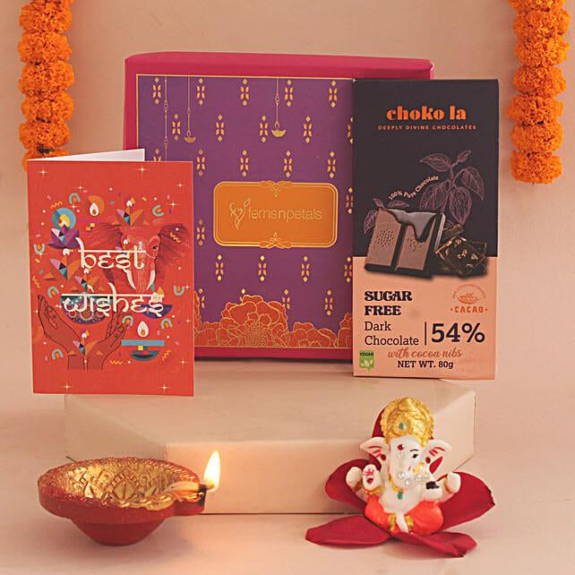 Online Sweet With Diwali Greetings Hamper