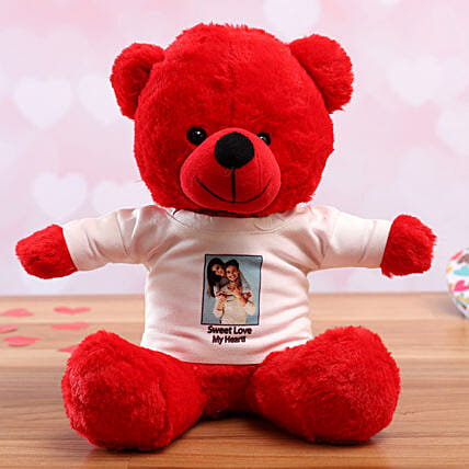 personalised tshirt teddy for vday online