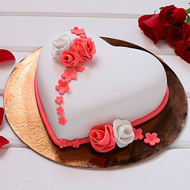 Sweet Love Truffle Fondant Cake