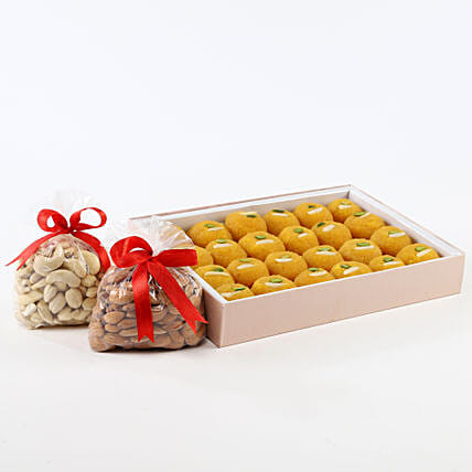 Dry fruits with sweets:Bhai Dooj Sweets