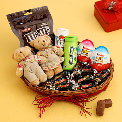 Basket of Flavoured Chewing Gums:Anniversary Gift Baskets