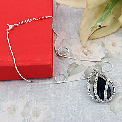 Pendant with silver chain