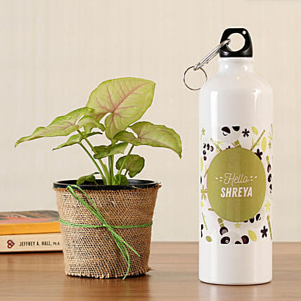 plants online personalised bottle online