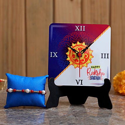rakhi with table clock online