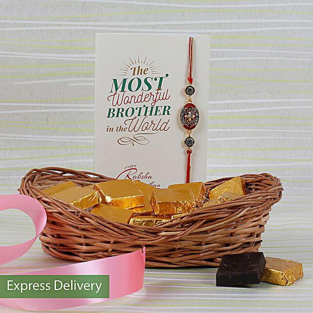 Tasty Chocolaty Rakhi Combo