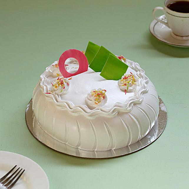 Online designer vanilla flavour cake:Cakes for Happy Friendship Day