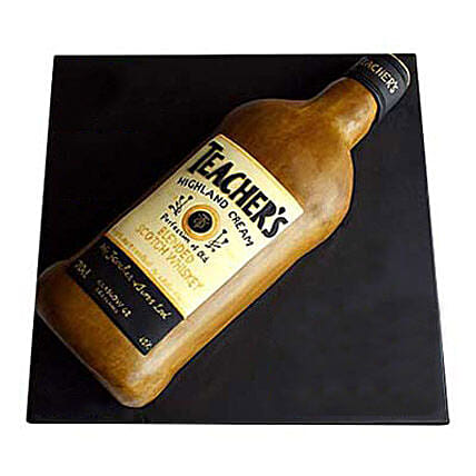 Teachers Scotch Whisky Cake 3kg:Send Gifts for Grandfather