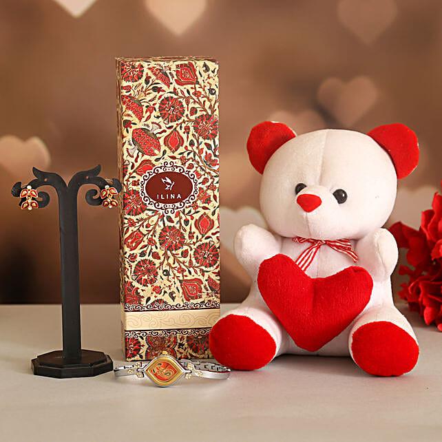 Teddy Love Valentine Gift Set:Ilina Gift Sets