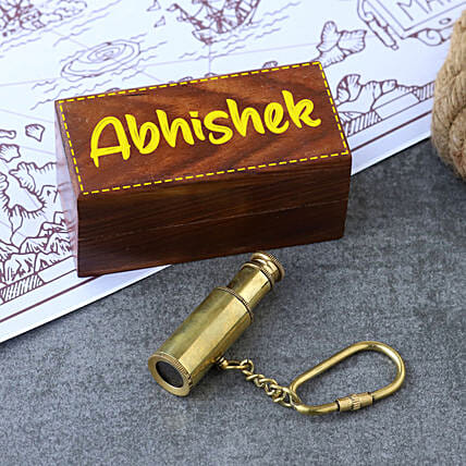 Telescope Keychain With Personalised Box