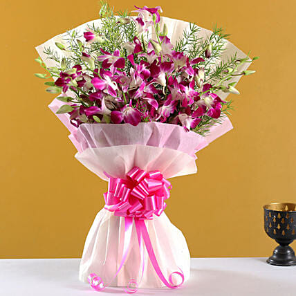 Orchid Flower Bouquet Online:Send Orchids