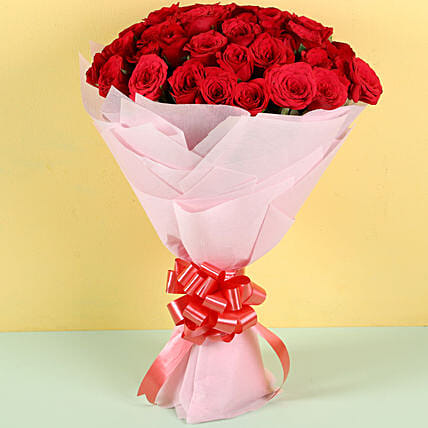 Red Flower Bouquet for Boyfriend