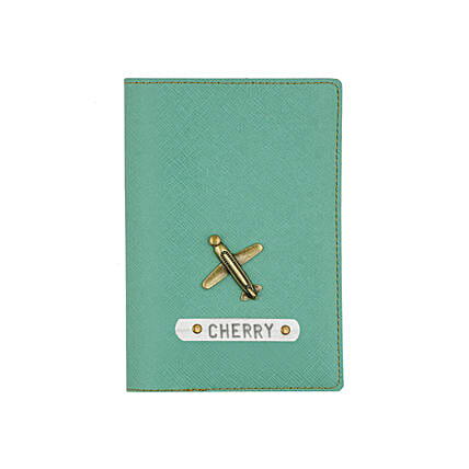 Stylish green passport cover