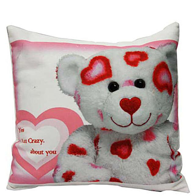 The Age Of Cool Cushion-hamper of 12x12 inch cute love teddy printed cushion