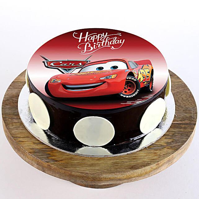 Disney car theme cake for kid