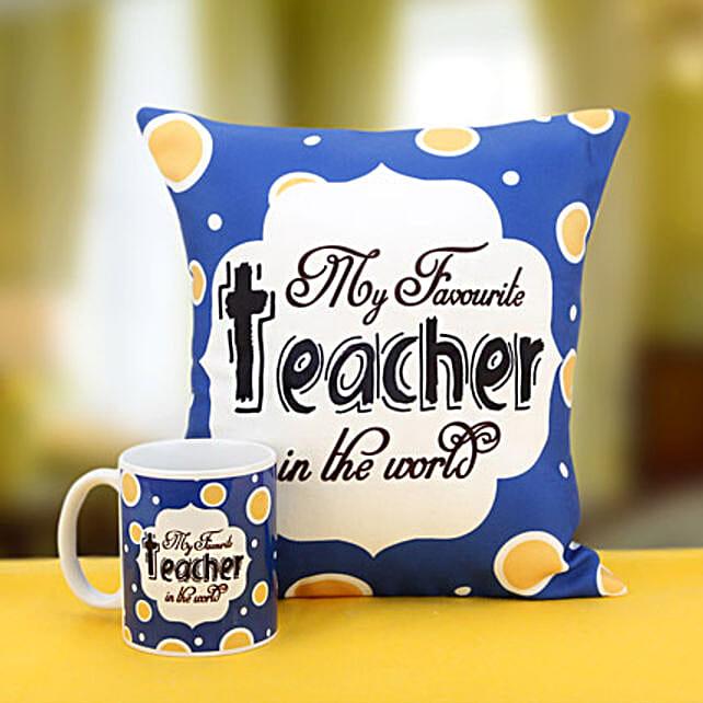Cushion and mug combo