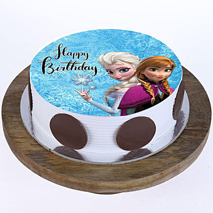 frozen cartoon cake for kid