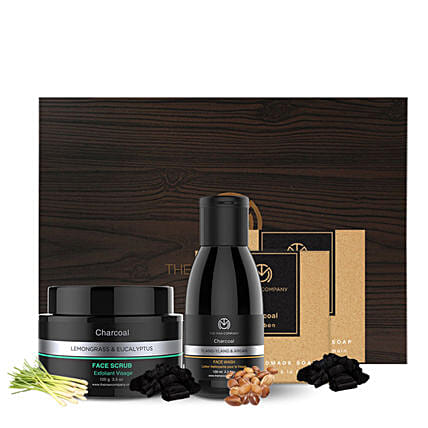 charcol grooming hammper for man:Gift Hampers for anniversary